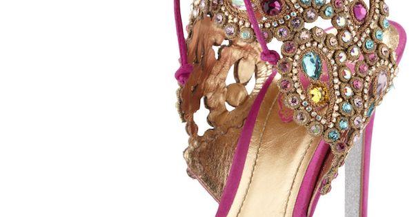 Jeweled sandals - photo