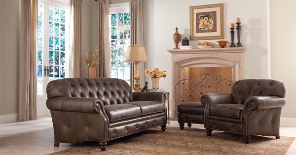 396 Traditional Button Tufted Sofa With Nailhead Trim By Smith Brothers Gill Brothers