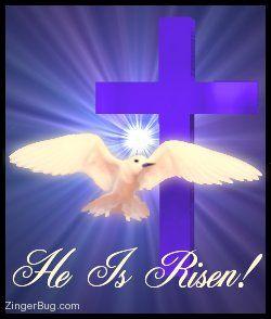 He Is Risen Cross Dove Glitter Graphic Comment Jesus Is Alive He Is Risen Jesus Is Risen