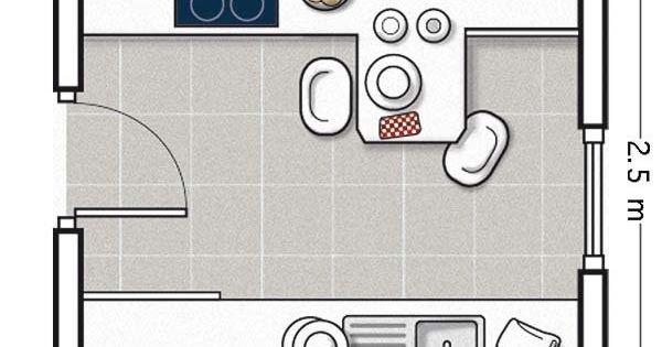 Doce cocinas con barra y sus planos cocinas peque as for Planos de cocina con sus medidas