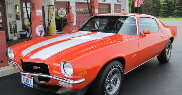 1970 Chevrolet Camaro Coupe Z 28 350 Cid 360 Horsepower Small Block In Hugger Orange Camaros