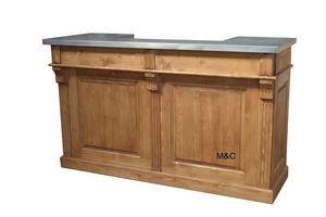 Comptoir De Bar Avec Un Plateau Zinc Afin De Servir De Caisse Ou De Banque D Accueil Ou De Comptoir Pour Les Pro Meuble Bar Comptoir Comptoir De Bar Meuble Bar