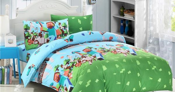 2015 Hot!! Uk And Usa Size Twin Queen Minecraft 3d Bedding