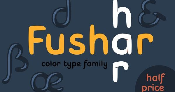 Fushar Color 2 By Font Bud On Creativemarket Custom Logotype Light Letters Cool Fonts