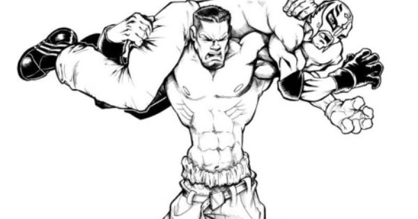 John Cena Coloring Pages Colores Wwe Luchadoras Wwe