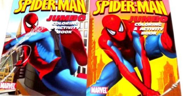 2 Amazing Spiderman Jumbo Coloring Activity Book With Free 24pc Vivid Crayons By Coloring Books 2 99 Gr Amazing Spiderman Color Activities Book Activities