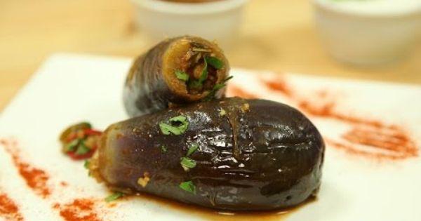 طريقة عمل وصفة باذنجان محشي بالبرغل وصفات فيديوهات زيتونة Homemade Recipes Middle Eastern Recipes Food