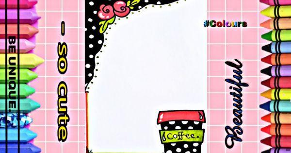 Drawing To Decorate Notebook Coffee تزيين دفاتر مدرسة من الداخل على Coffee Unique Cute