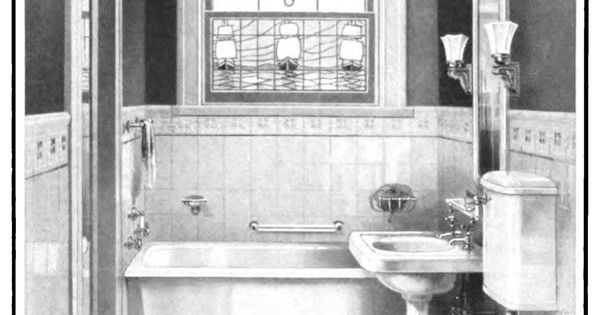 Tiny Bathroom Laurelhurst Craftsman Bungalow Mott S 1914