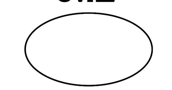Printable Oval Shape