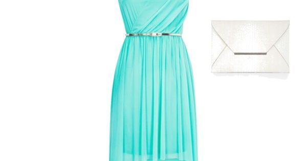 Dressy Summer Outfit. Teal dress Id switch the shoes to a cute ...