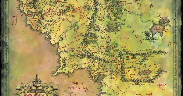 Middle Earth Best map ever Maps from Books – Best Middle Earth Map