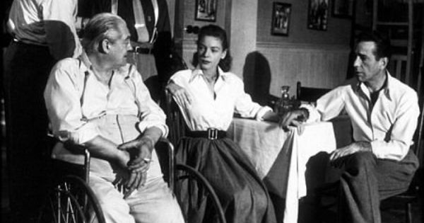 Key Largo Lionel Barrymore Lauren Bacall And Humphrey Bogart 1948 Warner Bros Key Largo Movie Lauren Bacall Bogie And Bacall