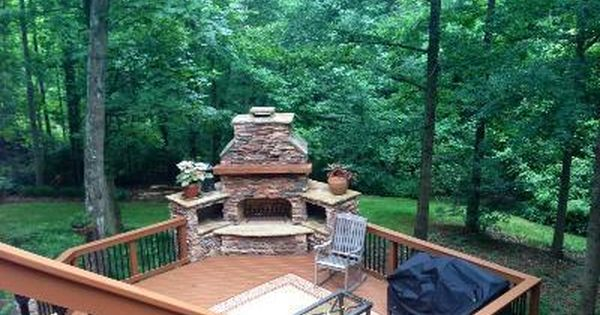 Deck Safe Fire Pit | Charlotte outdoor fireplace on low-maintenance deck -  Outdoor . - Deck Safe Fire Pit Charlotte Outdoor Fireplace On Low