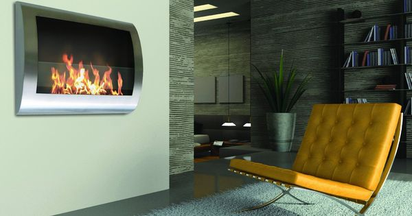 Chelsea Stainless Steel Wall Mount Fireplace Wall Mounted Fireplace Contemporary Design And