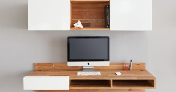 This Wall Mount Desk Cuts Down Visual Clutter In Small