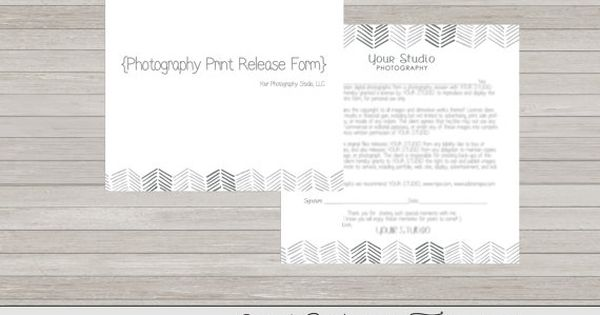 Copyrights release form, print release form, photography print - print release forms