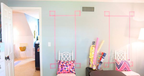 Washi tape comme décoration murale  Rental home  Pinterest  Art ...