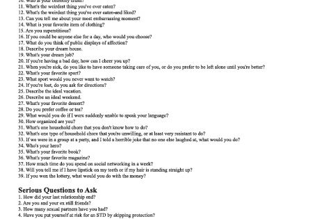 Fun questions to ask dating