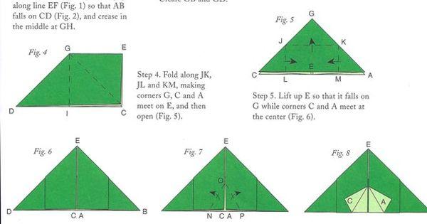 origami tent abraham leaving ur jesse tree pinterest