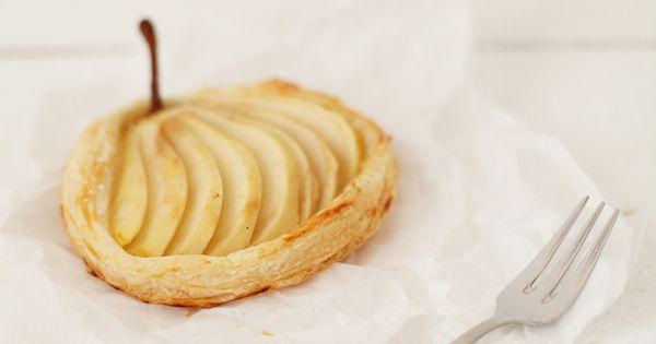 Vanille-Birnen-Tartelettes mit Marzipan   Marzipan