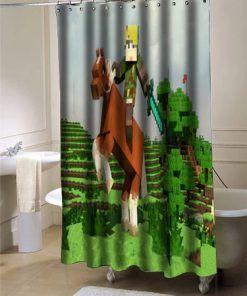 The Legend Of Zelda Creeper Minecraft Shower Curtain At