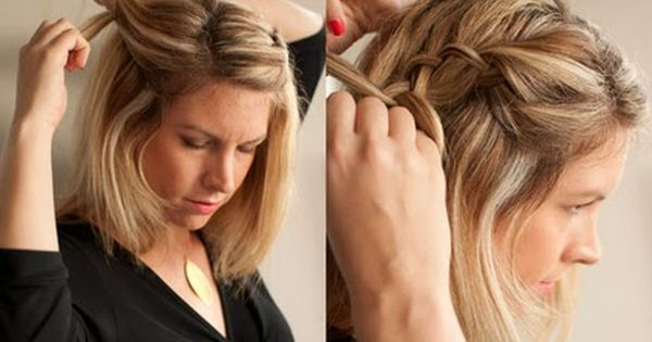 Hair braid tutorial Need new ways to do my short hair