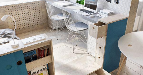 kleine wohnung modern und funktionell einrichten kleines schlafzimmer einrichten in 1 zimmer. Black Bedroom Furniture Sets. Home Design Ideas