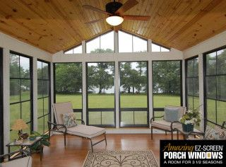 Photo Gallery Amazing Ez Screen Porch Windows In 2020 Porch Windows Porch Interior Screened Porch Designs