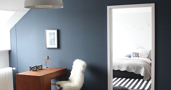 Wandfarbe nachtblau brillux farbige w nde for Farbige wandfarbe