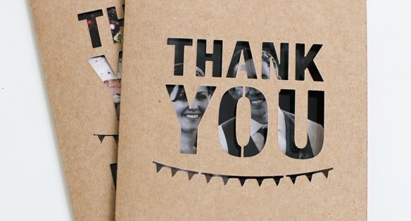 Unique Wedding Photo Thank You Card | Bridal Musings [g> cut out
