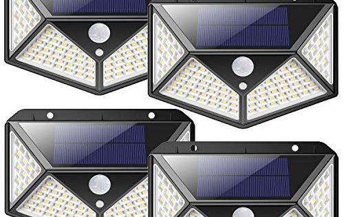Luce Solare Led Esterno 2200mah Risparmio Energetico 100led Lampade Solari Sensore Di Movimento 270 Illumin Nel 2020 Luce Del Sole Risparmio Energetico Energia Solare
