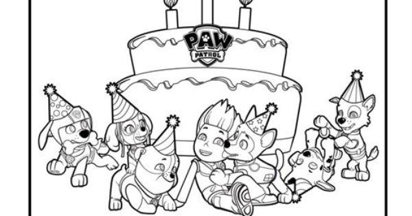 Paw Patrol Party Placemats Kleurplaat Pinterest