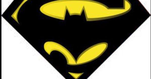 batman amp superman logo superman logos pinterest