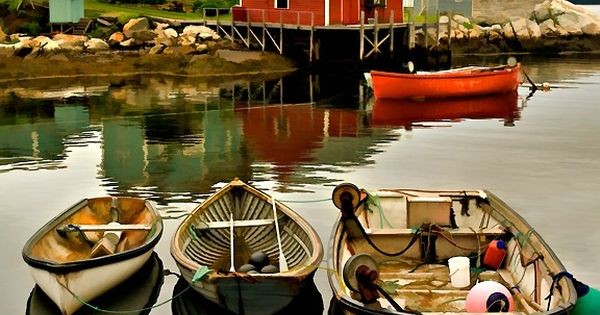three boats, Peggys Cove, Nova ScotiaRepin By:Pinterest++ for iPad