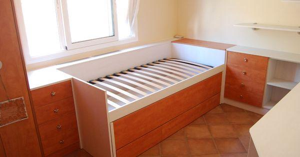 Cama nido lacada para habitaci n juvenil ni a joaquin - Cama nido nina ...