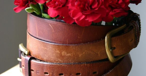 Upcycled repurposed belts great idea to repurpose your Repurposed leather belts