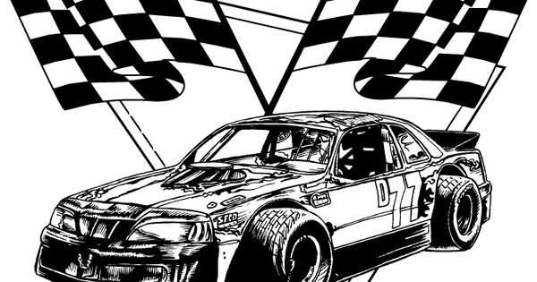 racing flags coloring pages - photo#2