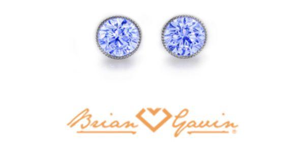 Brian Gavin Diamonds Blue Diamond Studs With Blue Fluorescence