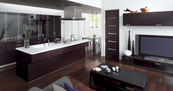 Cocina abierta al sal n deco pinterest tendencias de for Cocinas apartamentos pequenos