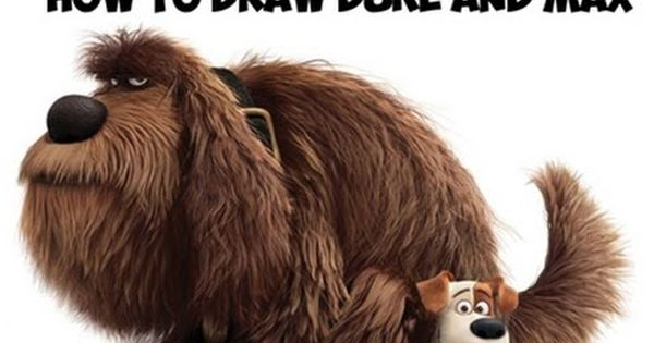 How To Draw Duke Sitting On Max From The Secret Life Of Pets Drawing Tutorial How To Draw Step By Ste Pets Drawing Secret Life Of Pets Inspirational Movies