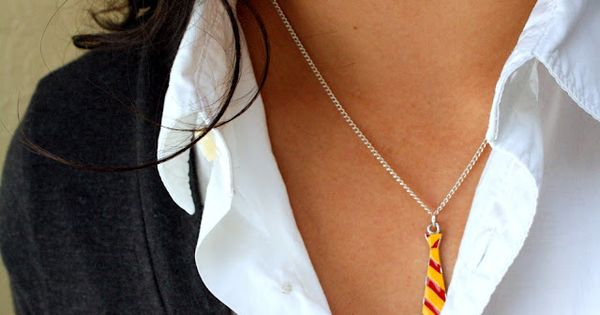 Harry Potter Gryffindor Neck Tie Necklace by RaeGun on Etsy, $15.50