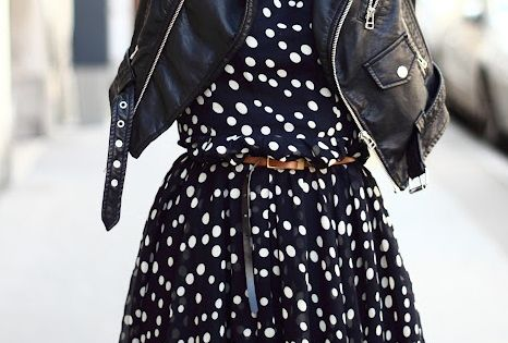 polka dots and leather