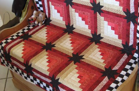 Star Log Cabin Quilt By Eleanor Burns Quilt In A Day