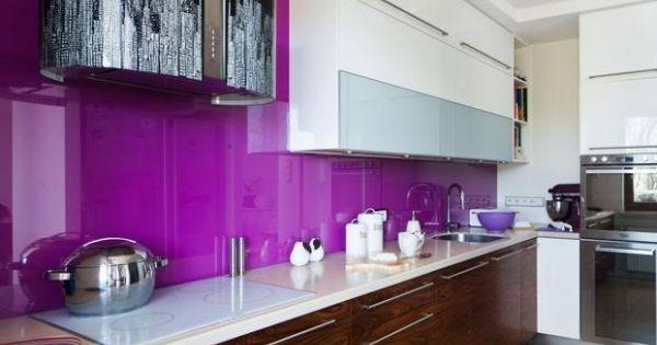 lila Fliesenspiegel Küche Pinterest Shabby, Living rooms and - fliesenspiegel küche glas