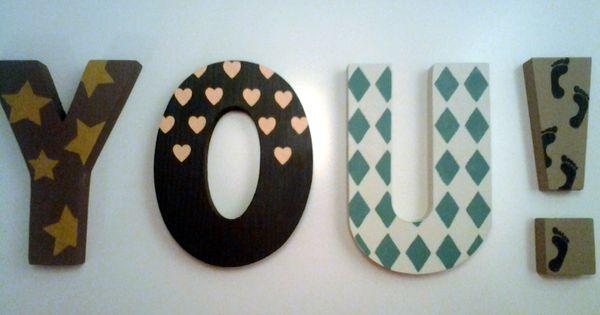 Letras de madera decoradas a mano my creations in wood - Letras de madera decoradas ...