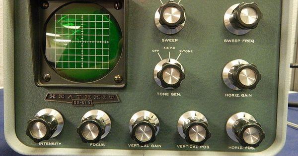 Vintage Heathkit Sb 610 Monitor Scope Ham Amature Radio Equipment