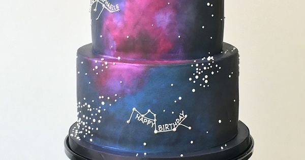 Age Of Aquarius Birthday Cake By The Butter End Cakery