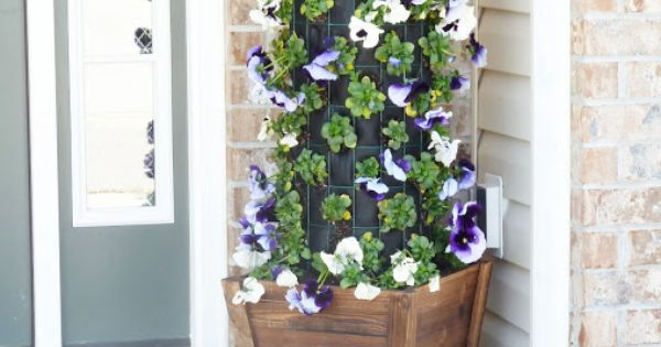 DIY Flower Bed Idea 4 - Flower Tower by Simply Designing