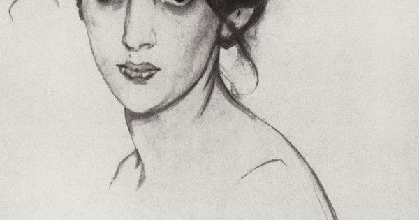 Portrait of Izabella Grunberg, 1910 Valentin Serov Valentin Serov, Portrait of Izabella